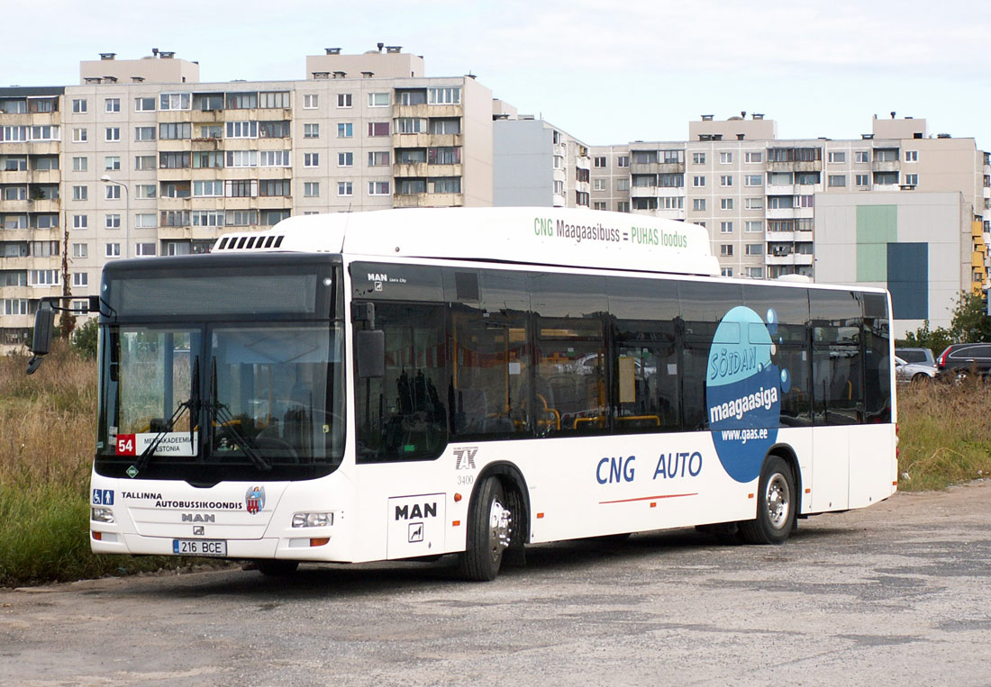 Tallinn, MAN A21 Lion's City NL243 CNG № 3400 Tallinn — Testbuss MAN A21 Lion's City NL243 CNG
