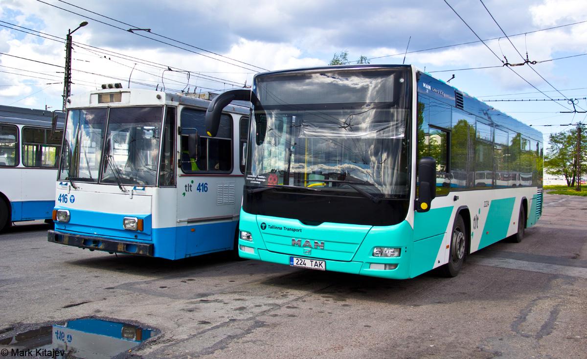 Tallinn, MAN A78 Lion's City LE № 2224