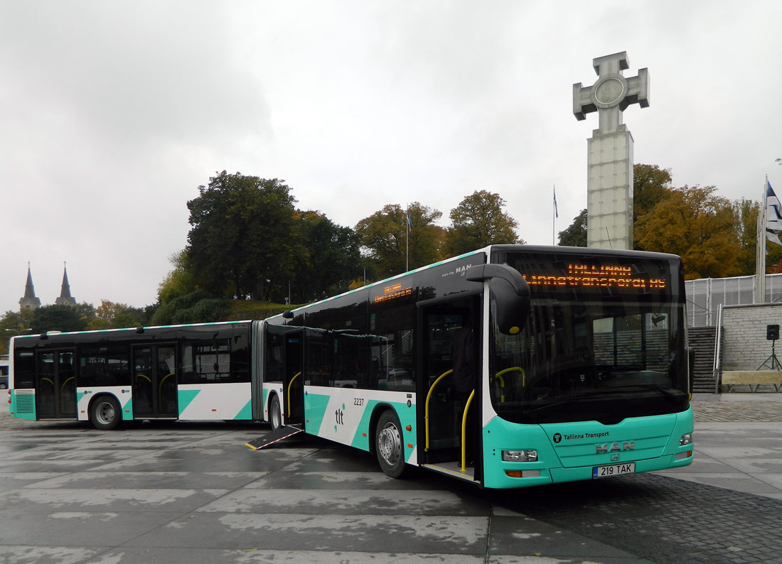 Tallinn, MAN A40 Lion's City GL NG323 № 2237 Tallinn — MAN busside II partii linnaliinide tarbeks (normaal- ja liigendbussid)