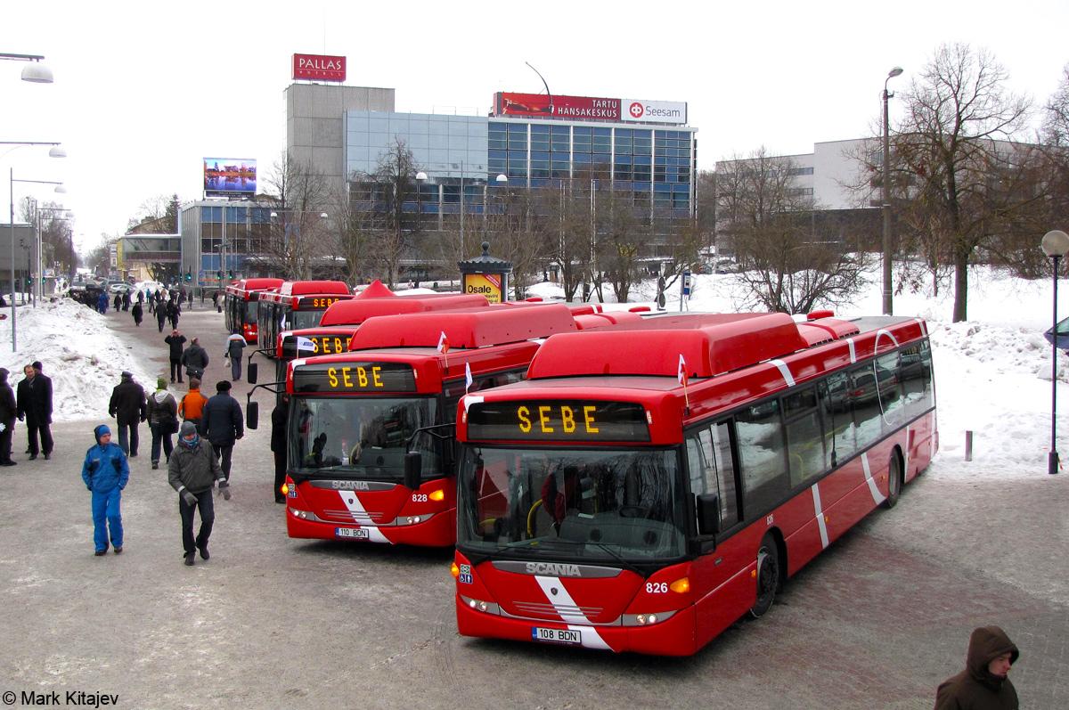 Tartu, Scania OmniCity CN270UB 4X2EB CNG № 826 VARIA (Tartu)
