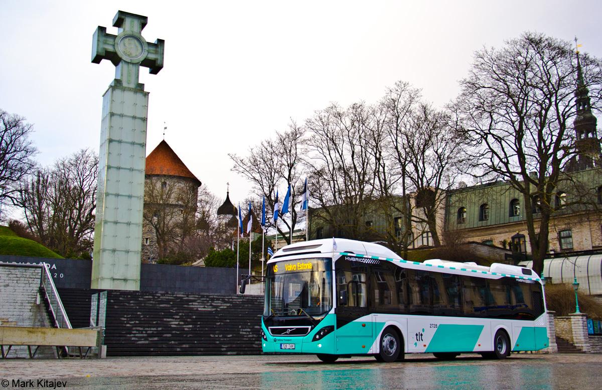 Tallinn, Volvo 7900 Hybrid № 2728 Tallinn — Volvo 7900 Hybrid busside I partii saabumised