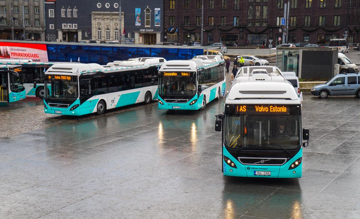 Tallinn — MAN busside IV partii linnaliinide tarbeks (normaal- ja liigendbussid)  Tallinn — Volvo 7900 Hybrid busside I partii saabumised