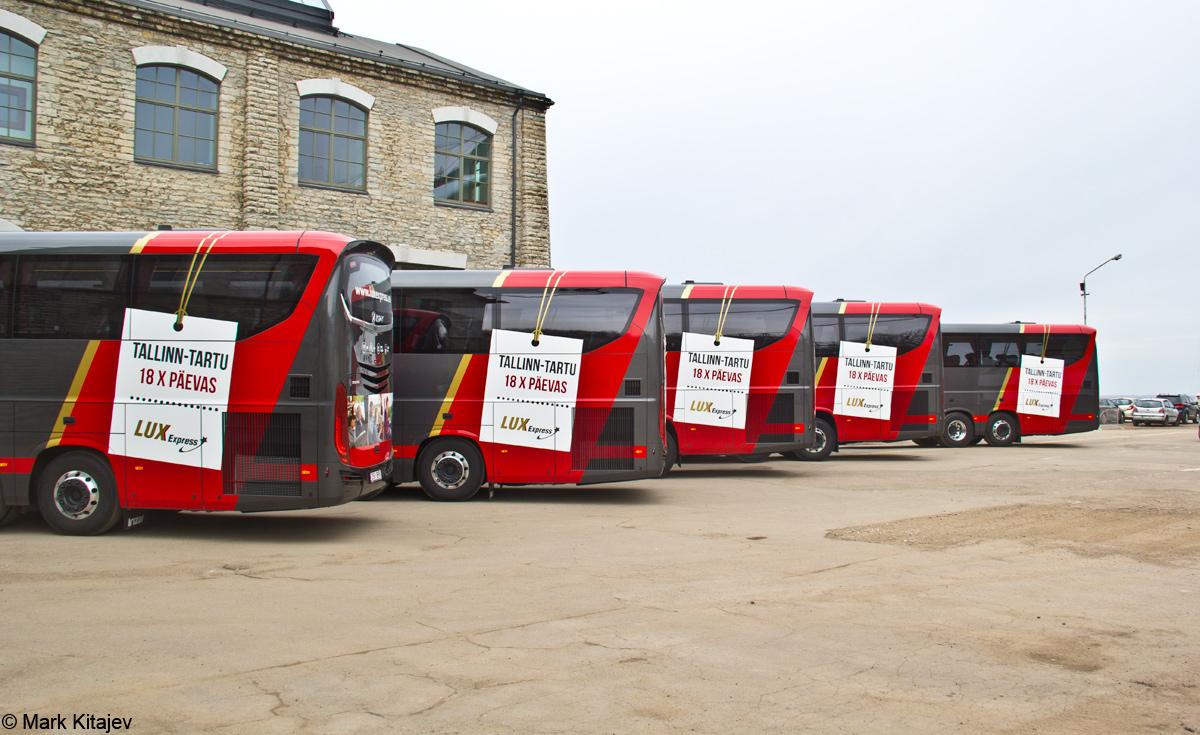 Tallinn — Lux Expressi Scania Irízar i8 busside ametlik esitlustseremoonia