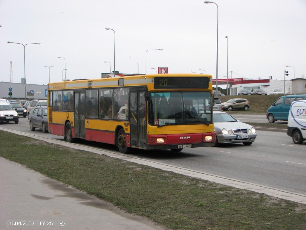 Tallinn, MAN A10 NL202 № 493