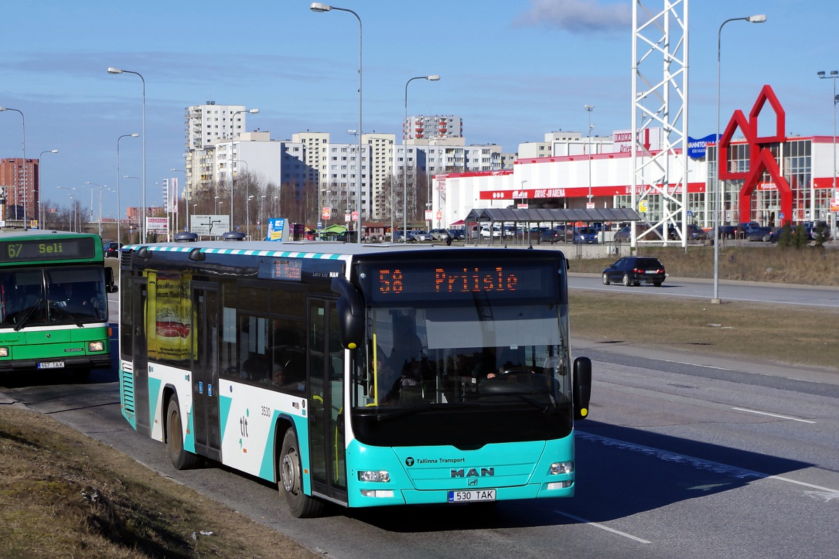 Tallinn, MAN A78 Lion's City LE № 3530