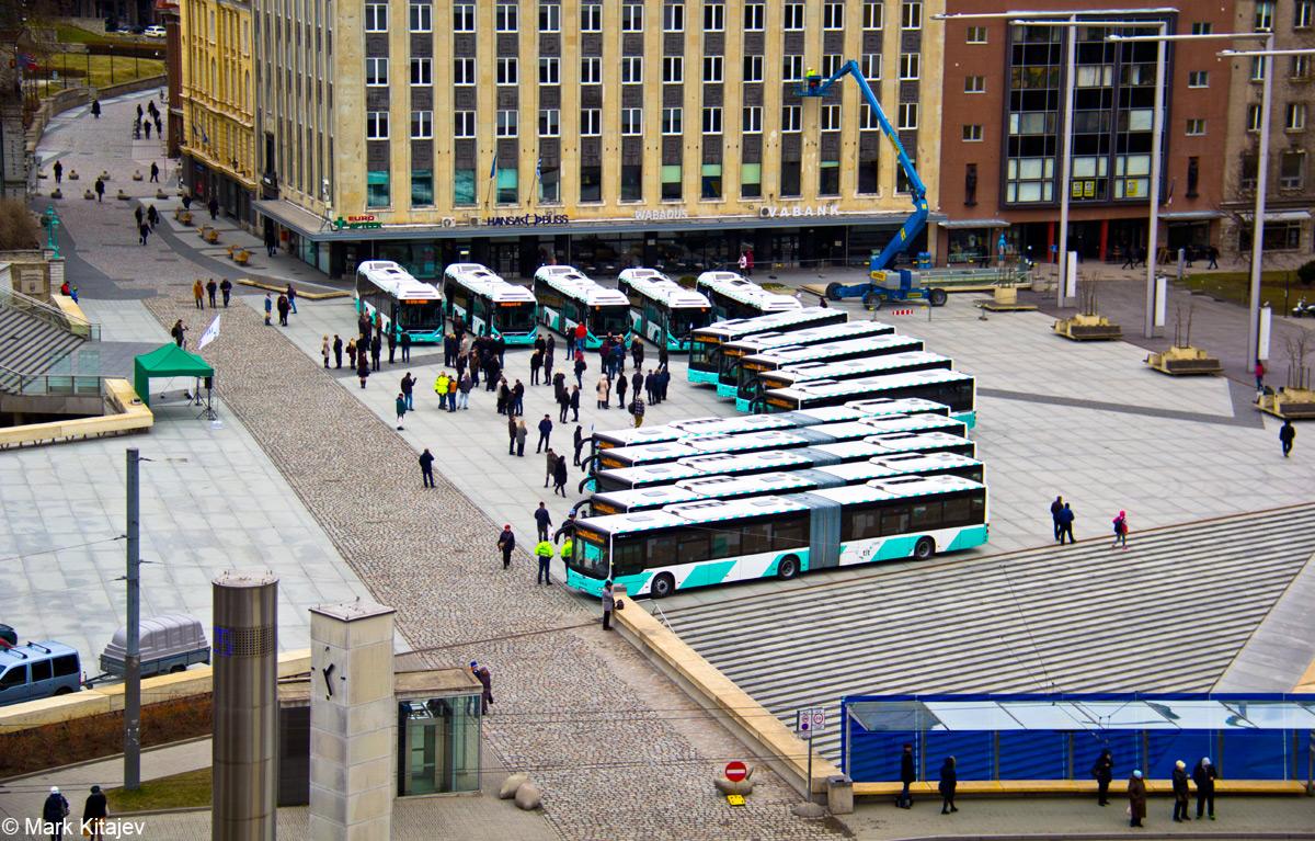 Tallinn — MAN busside V partii linnaliinide tarbeks (normaal- ja liigendbussid)  Tallinn — Volvo 7900 Hybrid busside II partii saabumised
