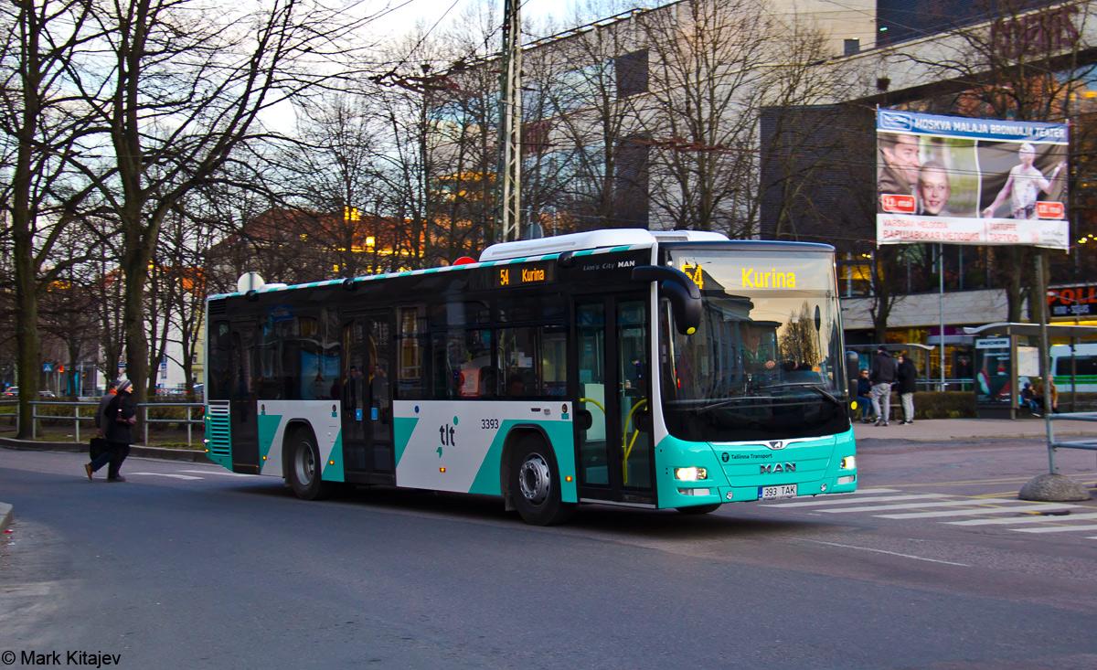 Tallinn, MAN A78 Lion's City LE № 3393