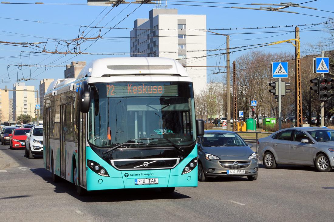 Tallinn, Volvo 7900 Hybrid № 1710 Tallinn — 9. trolliliini sulgemine ning 72. liini avamine