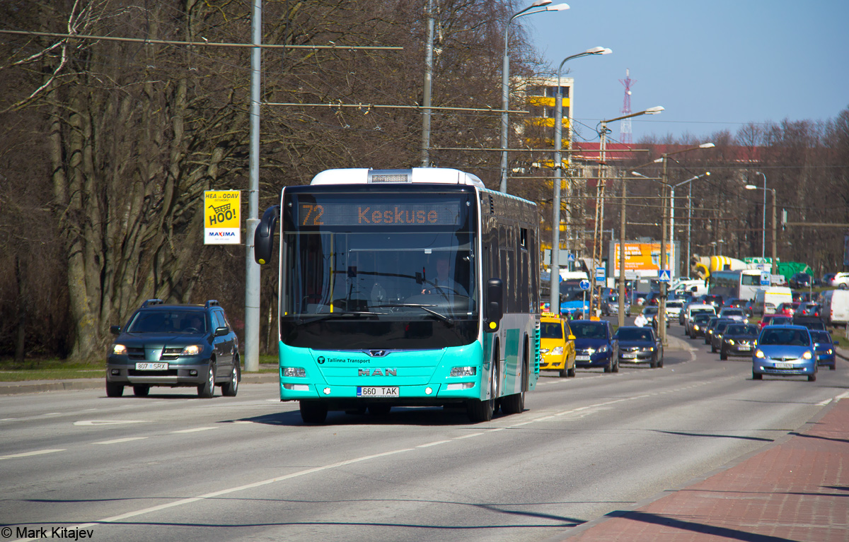 Tallinn, MAN A78 Lion's City LE № 2660 Tallinn — 9. trolliliini sulgemine ning 72. liini avamine
