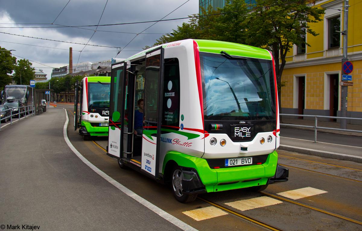 Tallinn — Isesõitvad Easymile bussid Tallinnas