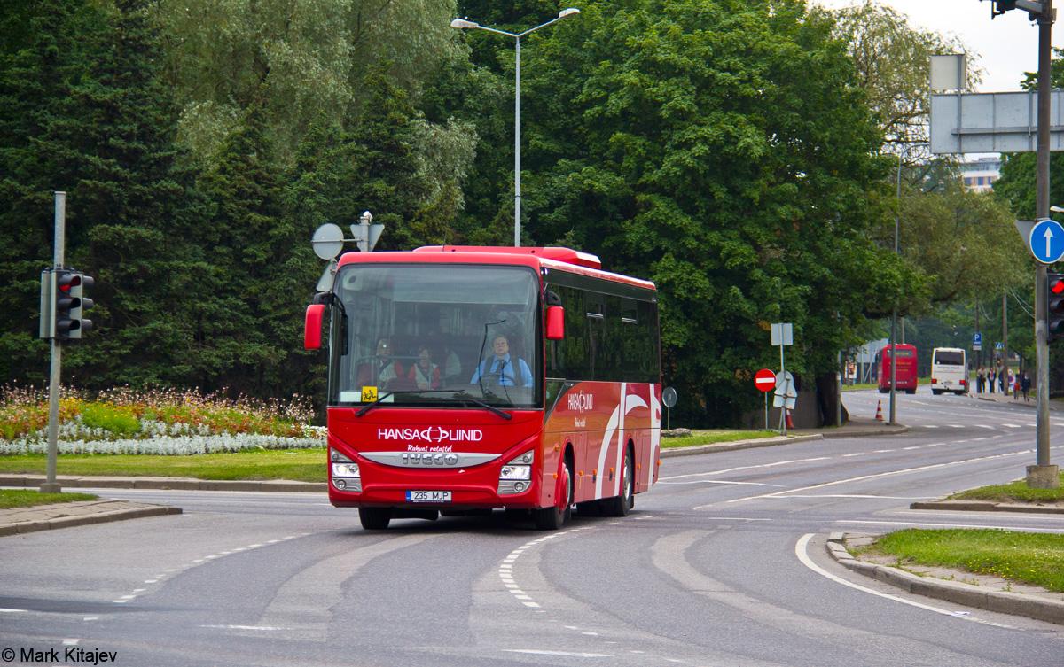 Pärnu, IVECO Crossway Line 10.8M № 235 MJP Tallinn — XII noorte laulu- ja tantsupidu (Mina jään)