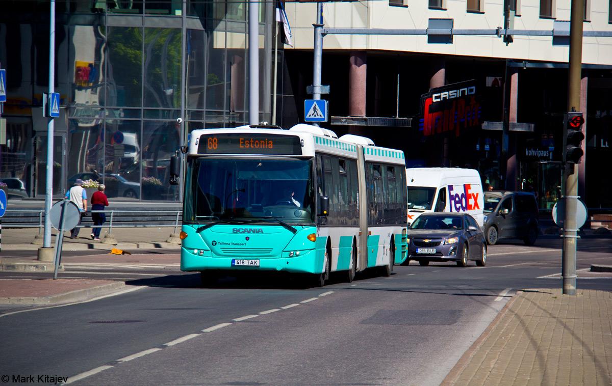 Tallinn, Scania OmniLink CK310UA 6X2LB № 3418