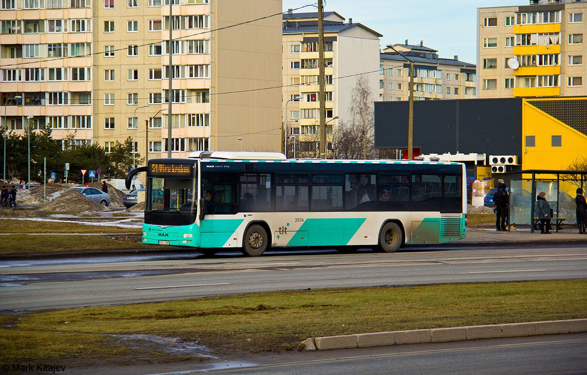Tallinn, MAN A78 Lion's City LE № 3574
