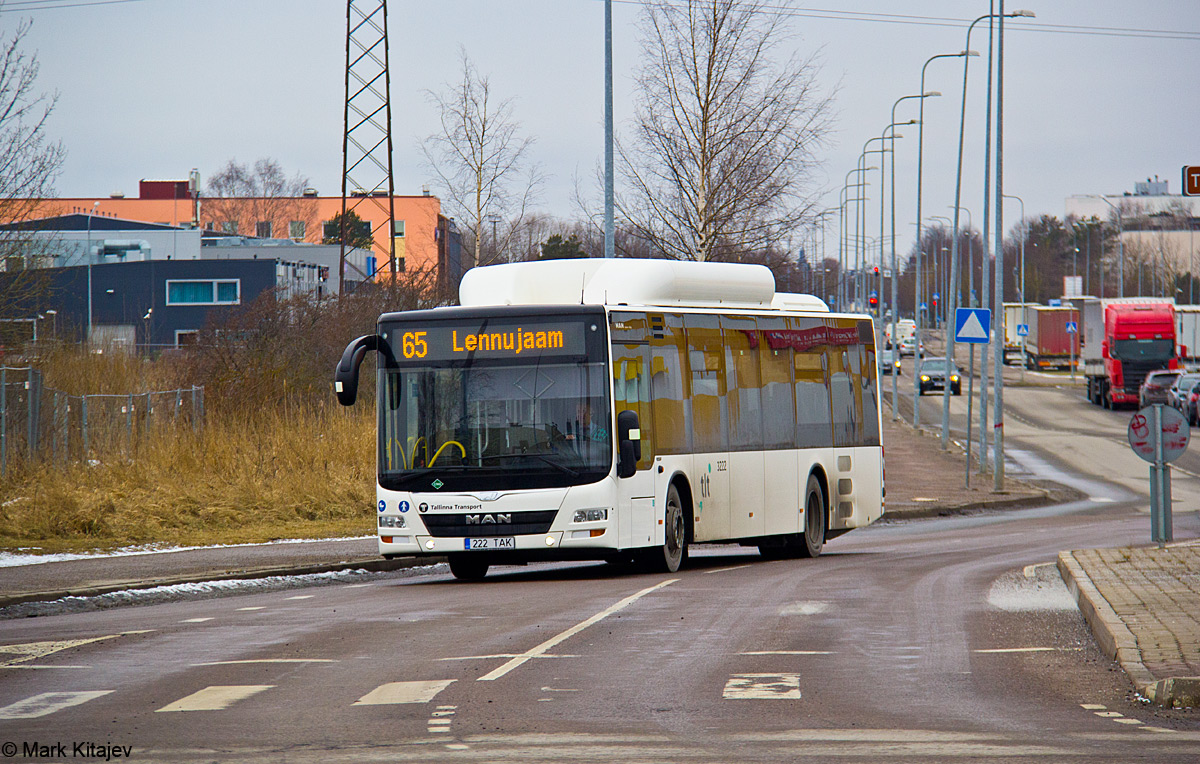 Tallinn, MAN A21 Lion's City NL313 CNG № 3222