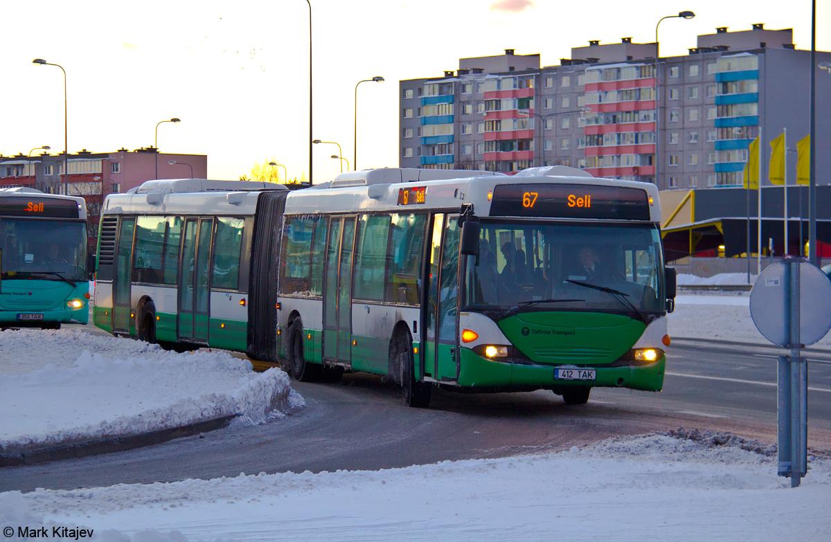 Tallinn, Scania OmniCity CN94UA 6X2 № 3412