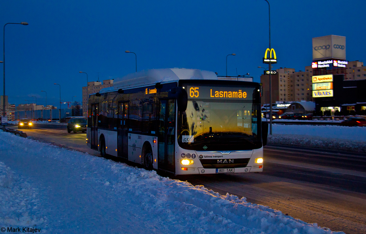 Tallinn, MAN A21 Lion's City NL313 CNG № 3801