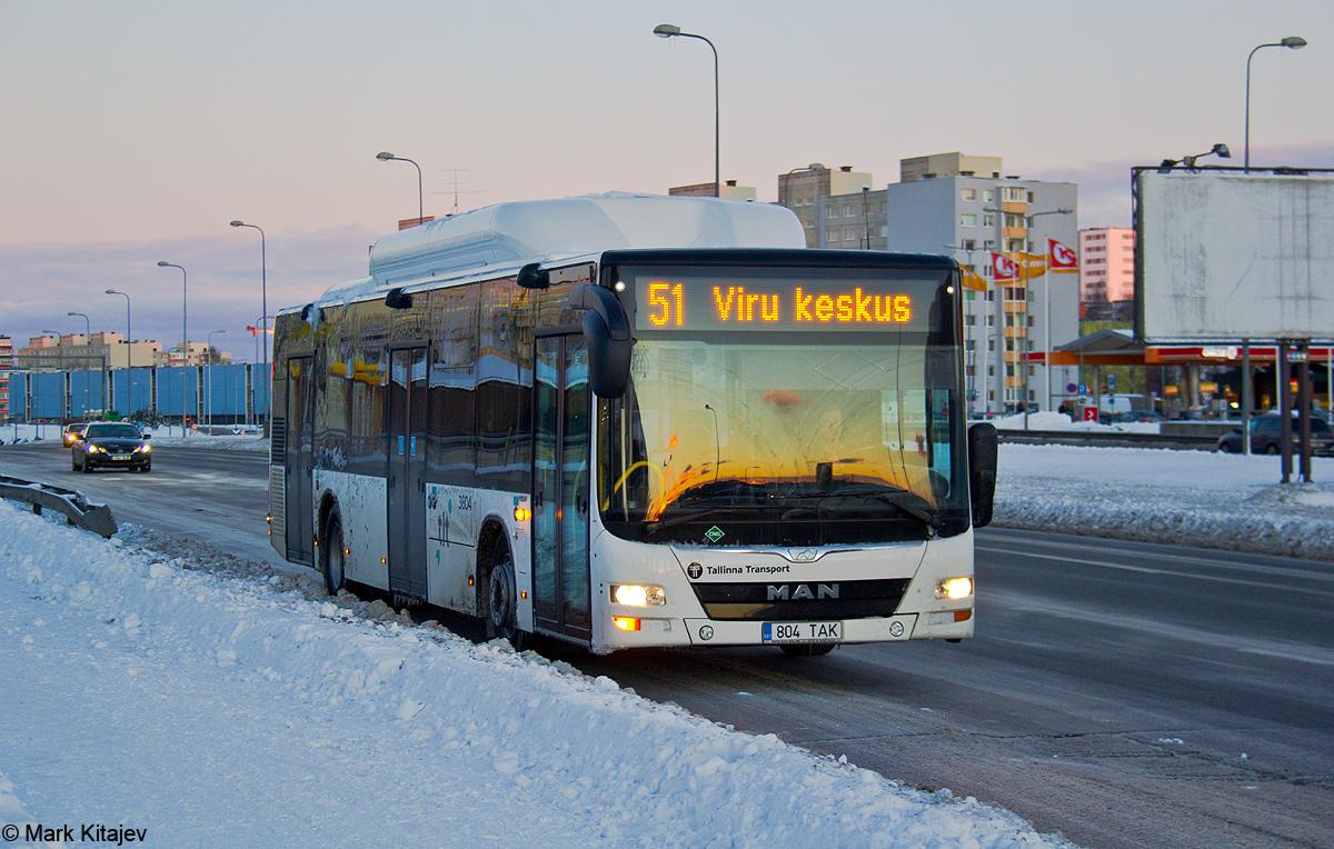 Tallinn, MAN A21 Lion's City NL313 CNG № 3804