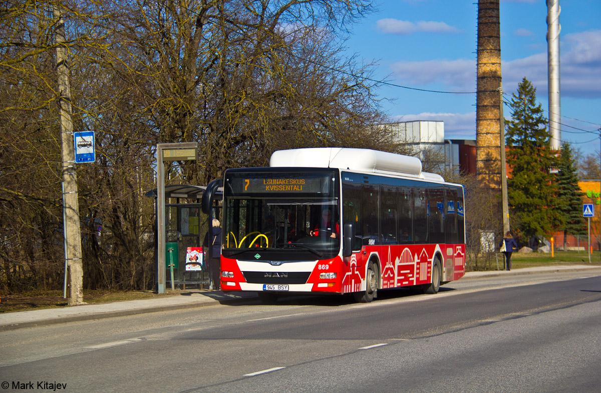 Tartu, MAN A21 Lion's City NL313 CNG № 869