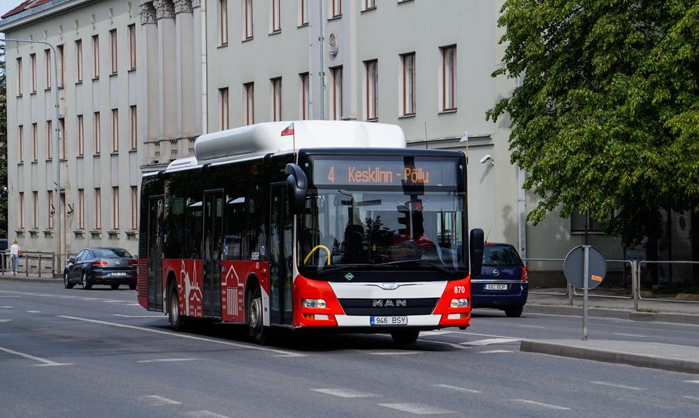 Tartu, MAN A21 Lion's City NL313 CNG № 870