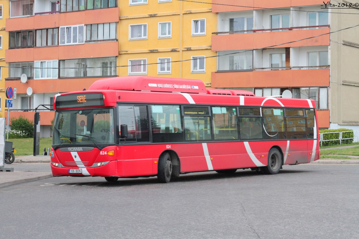 Tartu, Scania OmniCity CN270UB 4X2EB CNG № 824