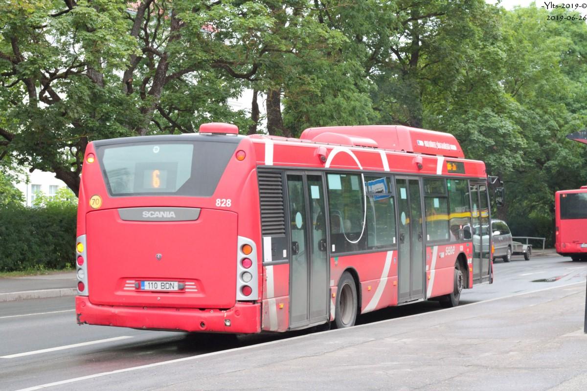 Tartu, Scania OmniCity CN270UB 4X2EB CNG № 828