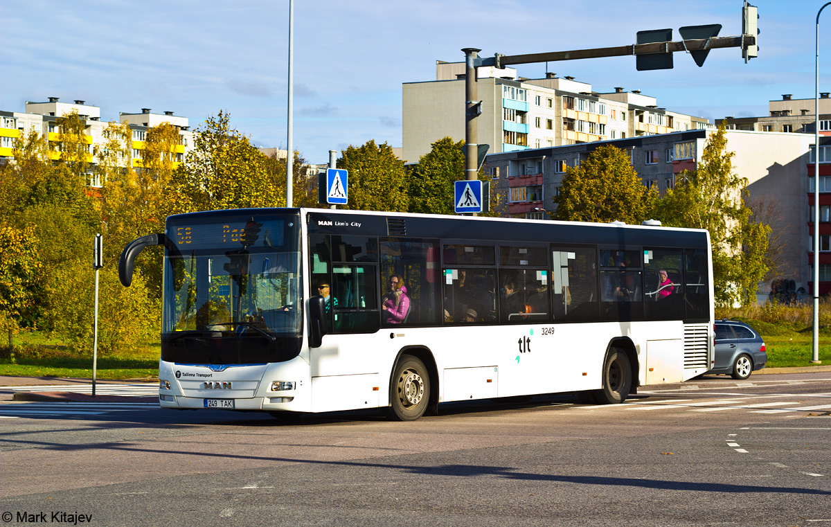 Tallinn, MAN A78 Lion's City LE № 3249