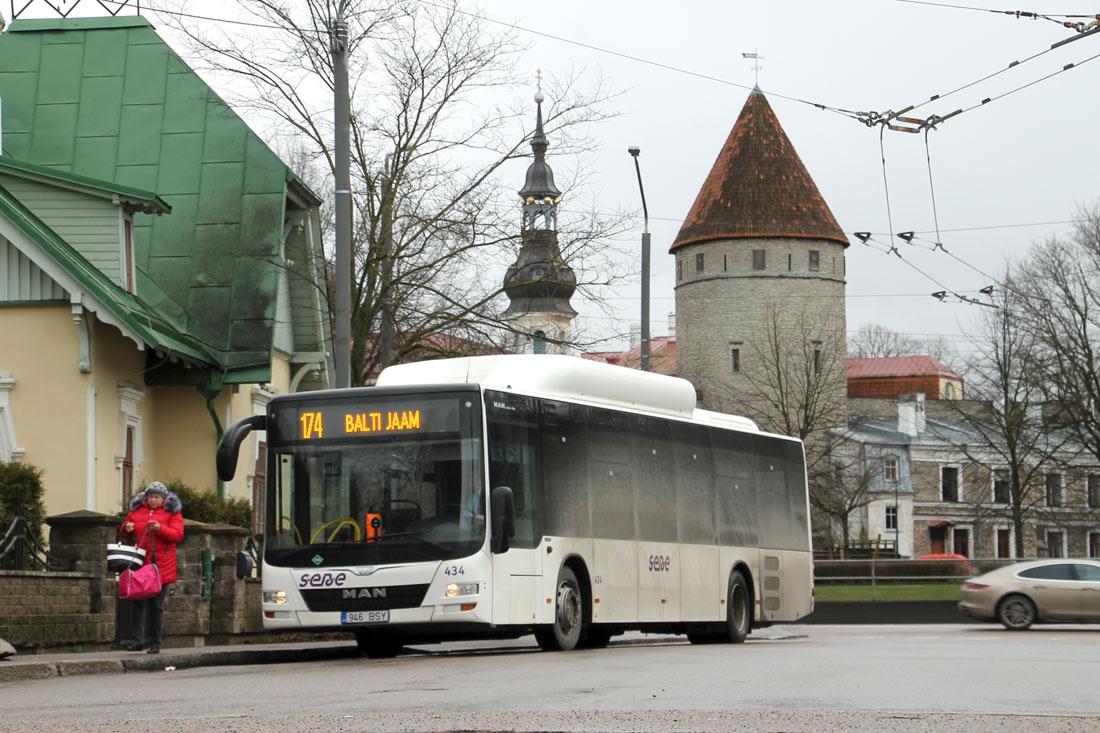 Tallinn, MAN A21 Lion's City NL313 CNG № 434