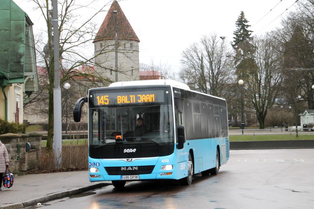 Tallinn, MAN A78 Lion's City LE Ü EL293 № 458