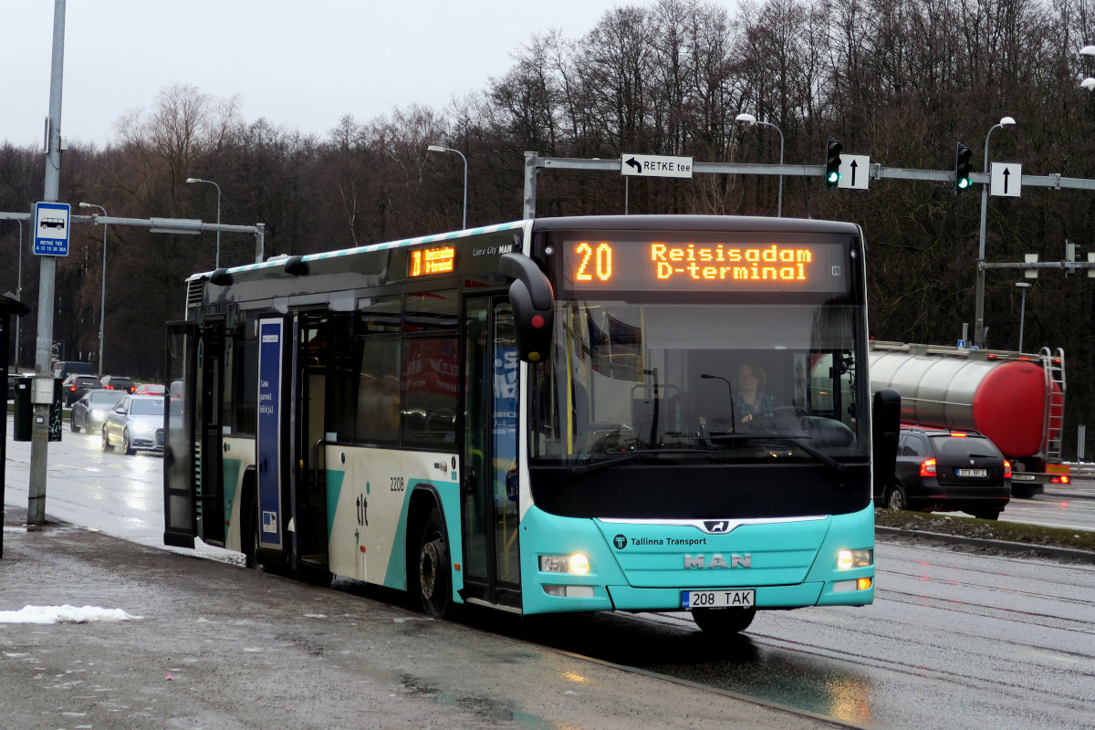Tallinn, MAN A78 Lion's City LE № 2208