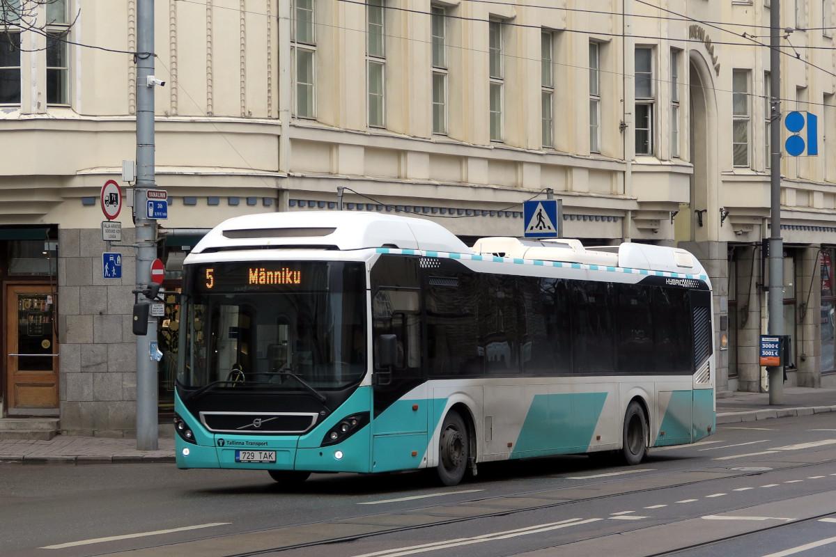 Tallinn, Volvo 7900 Hybrid № 2729