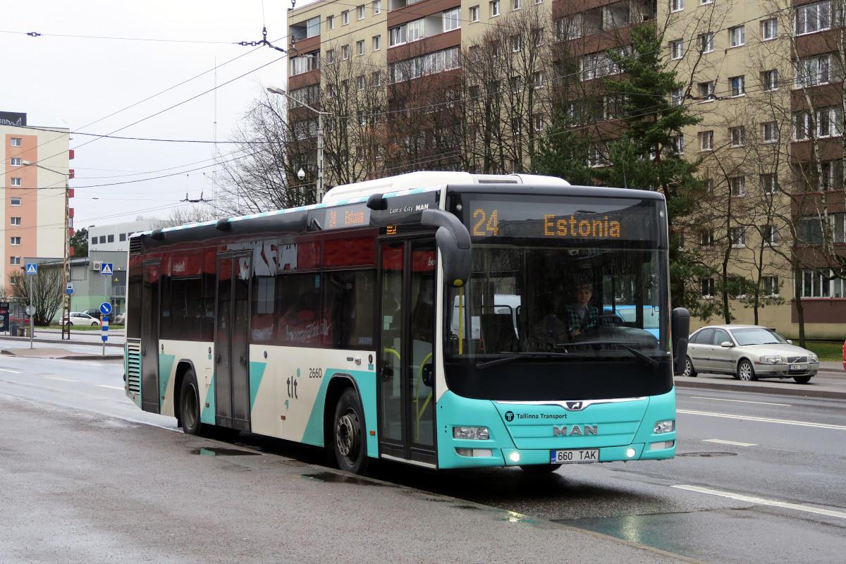 Tallinn, MAN A78 Lion's City LE № 2660