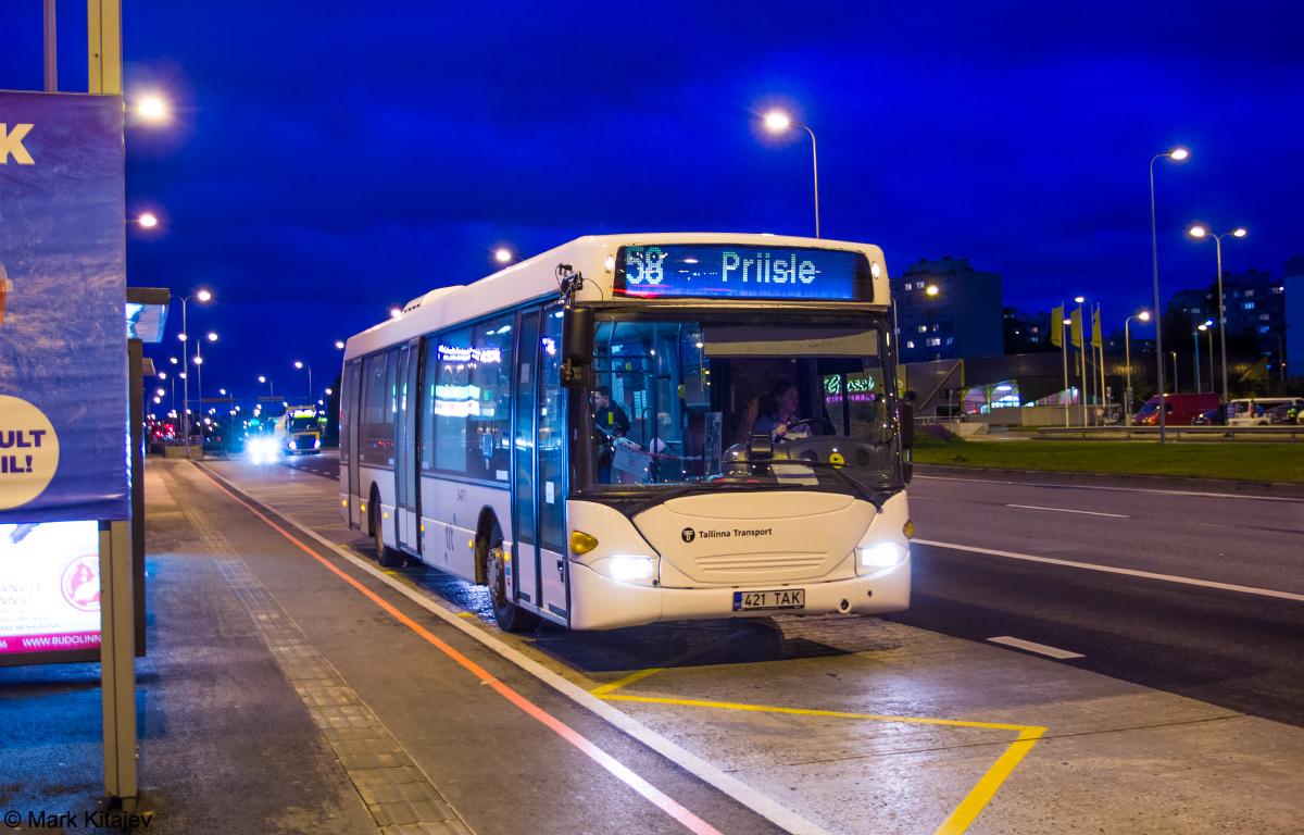 Tallinn, Scania OmniLink CL94UB № 3421