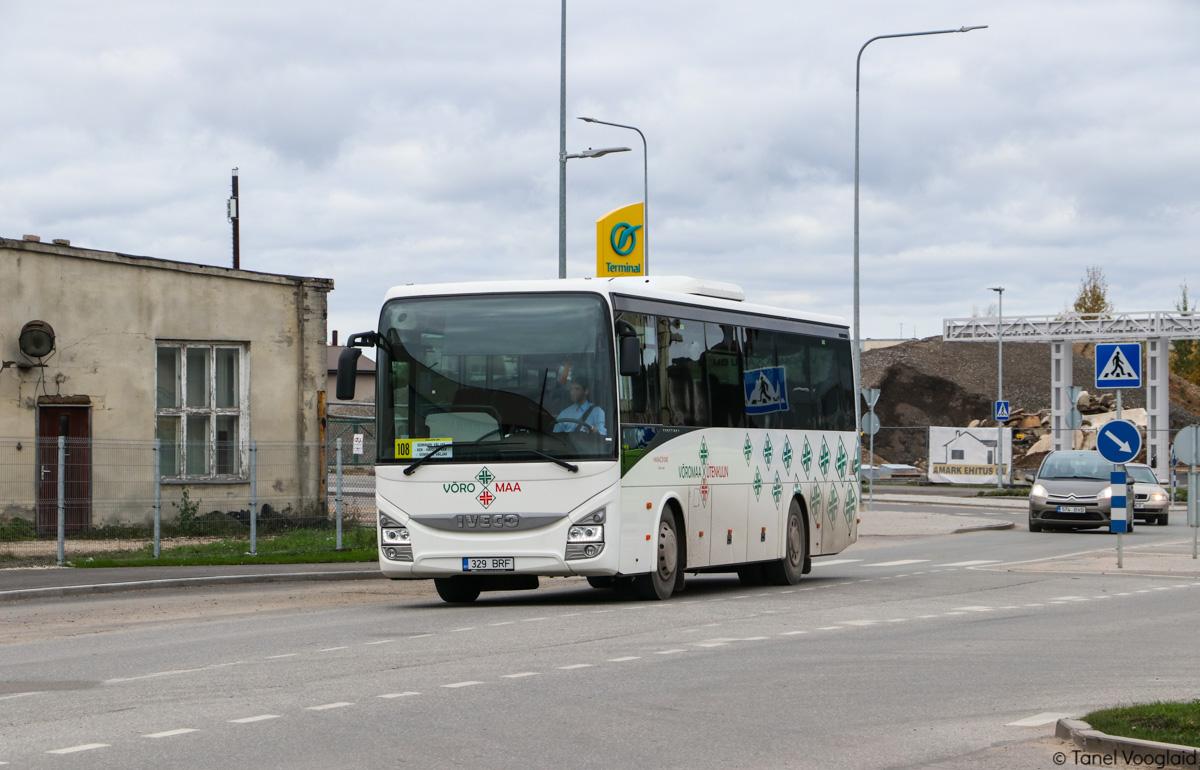 Võru, IVECO Crossway Line 10.8M № 329 BRF