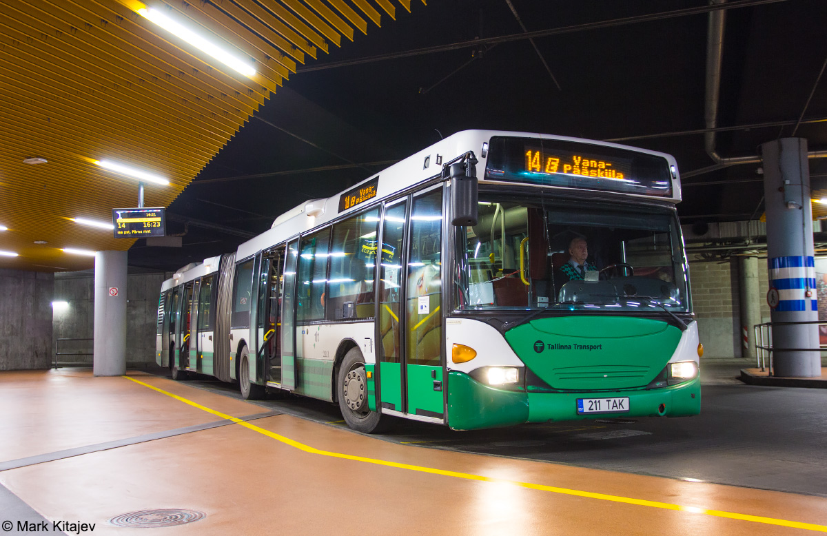 Tallinn, Scania OmniCity CN94UA 6X2 № 2211