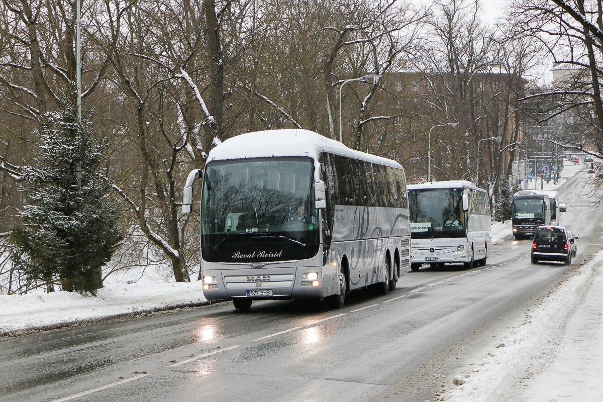 Tallinn, MAN R09 Lion's Coach C RHC444 № 577 BHB Protestiaktsioon Toompeal