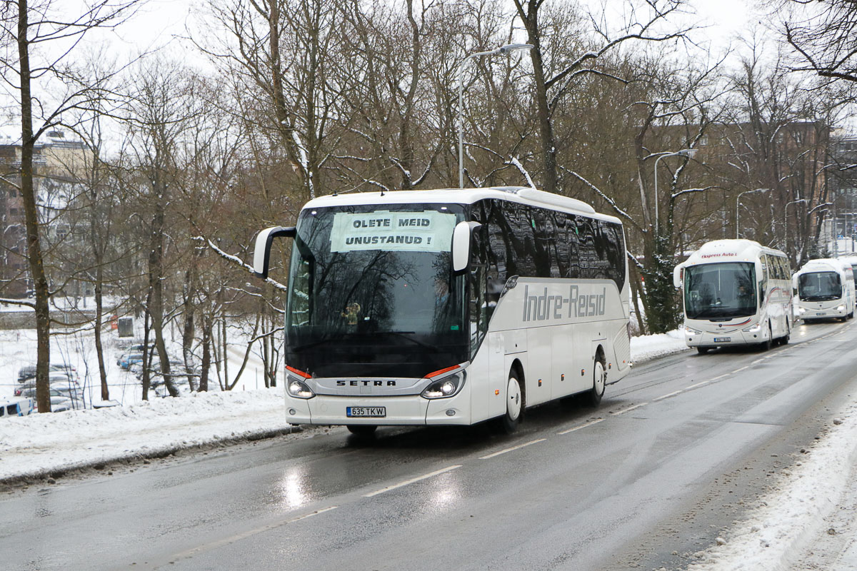 Tallinn, Setra S515HD № 635 TKW Protestiaktsioon Toompeal