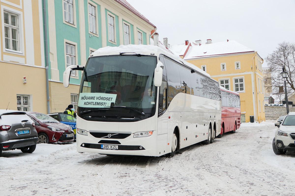 Tallinn, Volvo 9700HD UG № 285 KZL Protestiaktsioon Toompeal