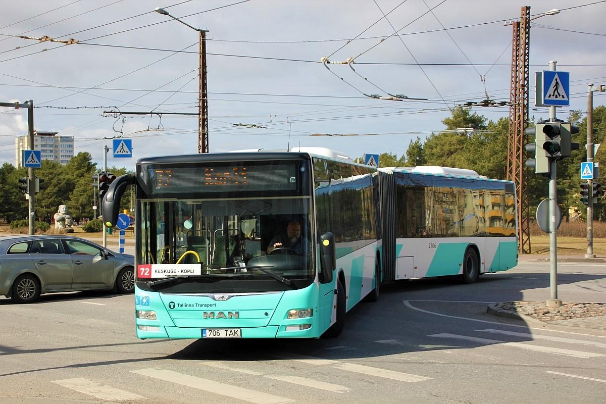 Tallinn, MAN A40 Lion's City GL NG323 № 2706