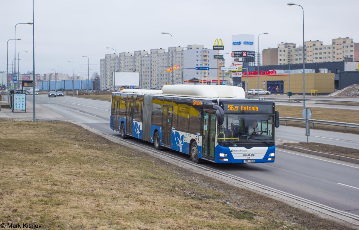 Tallinn, MAN A23 Lion's City G NG313 CNG № 3232