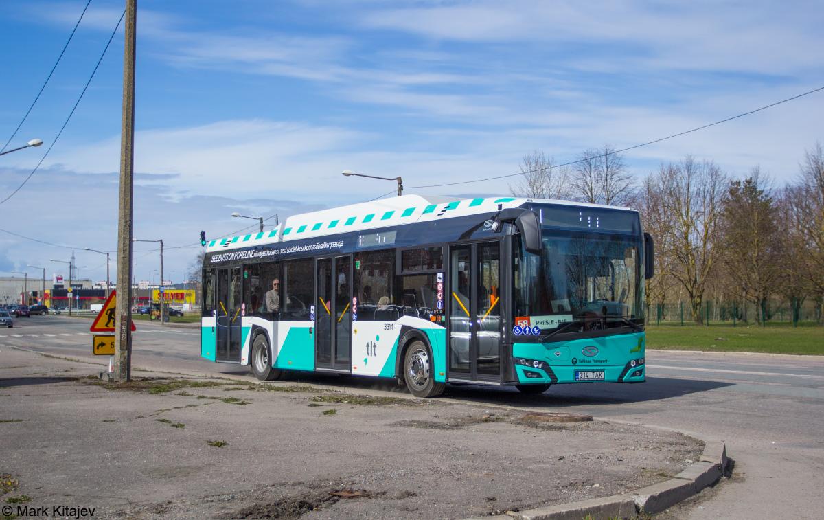 Tallinn, Solaris Urbino IV 12 CNG № 3314
