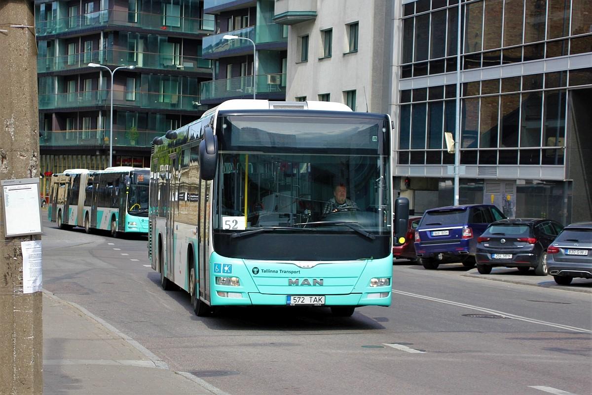 Tallinn, MAN A78 Lion's City LE EL293 № 3572