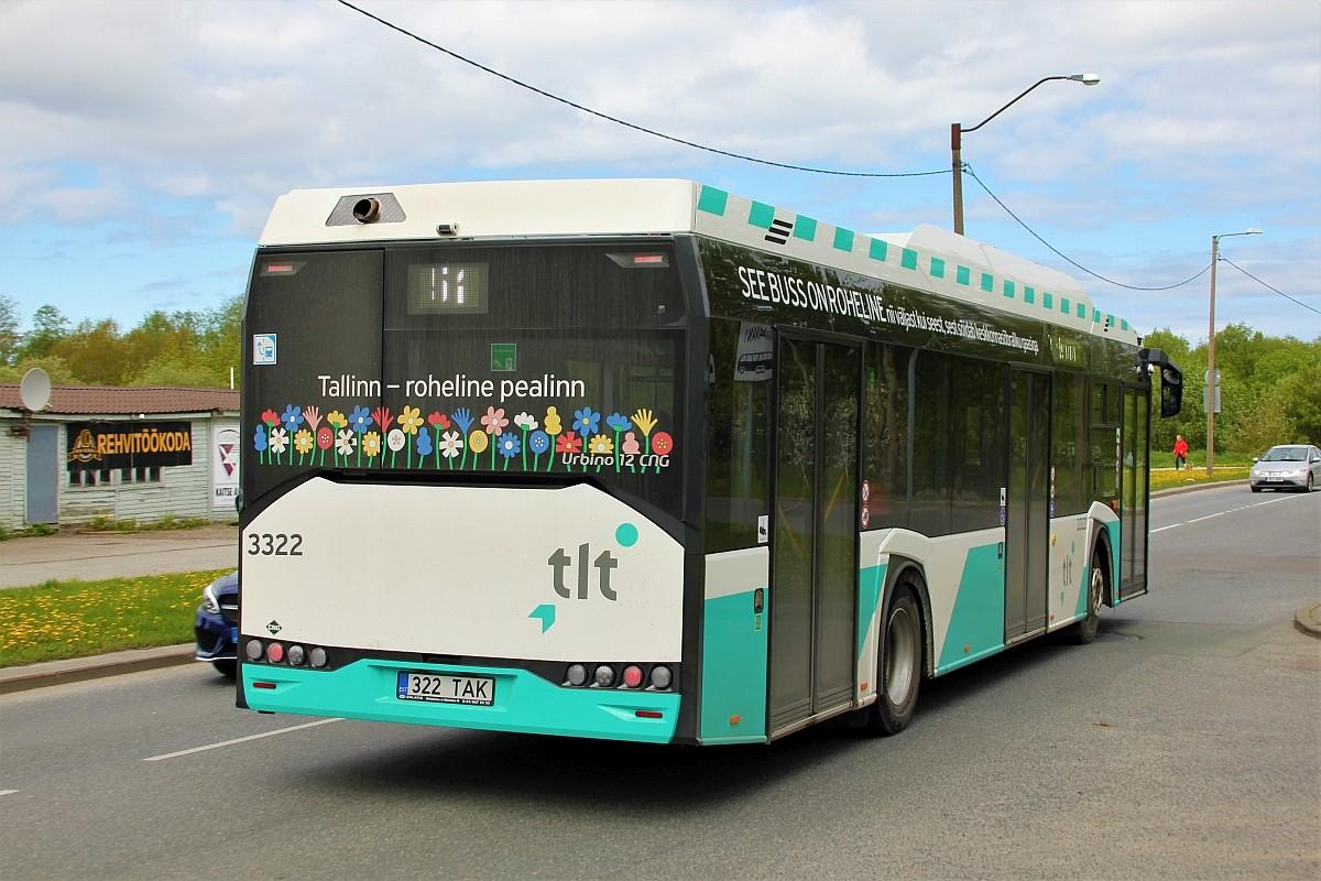 Tallinn, Solaris Urbino IV 12 CNG № 3322